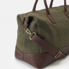 Joules Paddington Green Check Tweed Weekend Bag 3
