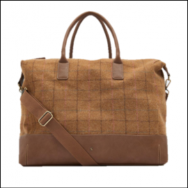 Joules Day to Day Tan Check Tweed Shoulder Bag 3