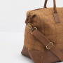 Joules Paddington Tan Check Tweed Weekend Bag 3