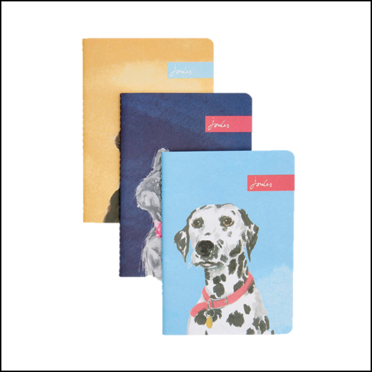 Joules Pawcasso Assorted A6 Notebooks (Set of 3) 1
