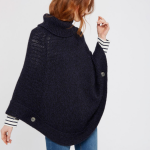 Joules Perdy French Navy Roll Neck Poncho 2