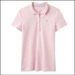 Joules Pippa Plain Cool Pink Polo Shirt 1