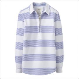 Joules Pool Blue Stripe Clovelly Deck Shirt 1