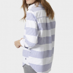 Joules Pool Blue Stripe Clovelly Deck Shirt 2