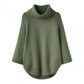 Joules Pria Moorland Green Sleeved Poncho 1