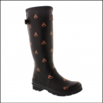 Joules Printed Black Love Bees Wellies