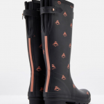 Joules Printed Black Love Bees Wellies 2