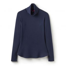 Joules Rachelle French Navy Roll Neck Jersey Top 1