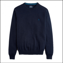 Joules Retford French Navy Marl Crew Neck Jumper 1