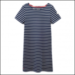 Joules Riviera Hope Stripe French Navy Dress