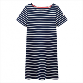 Joules Riviera Hope Stripe French Navy Dress 1