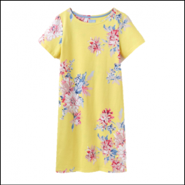 Joules Riviera Lemon Whitstable Floral Print Dress 1