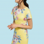 Joules Riviera Lemon Whitstable Floral Print Dress 2