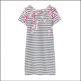 Joules Riviera Navy Blossom Stripe Print Dress 1