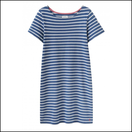 Joules Riviera Saltwash Stripe Jersey Dress 1