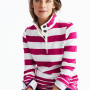Joules Saunton Classic Ruby Stripe Funnel Neck Sweatshirt 2
