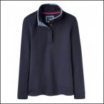 Joules Saunton Quilted Classic French Navy Funnel Neck Sweatshirt