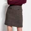 Joules Sheridan Green Check Tweed Field Skirt 2
