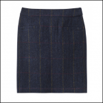 Joules Sheridan Navy Check Tweed Field Skirt