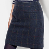 Joules Sheridan Navy Check Tweed Field Skirt 2