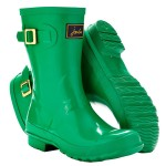 Joules Short Kelly Green Gloss Wellies