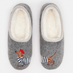 Joules Slippets Grey Dog Slippers