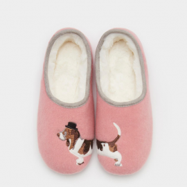 Joules Slippet Rose Pink Mule Slippers