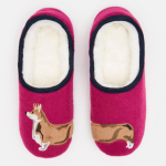 Joules Slippets Pink Dog Mule Slippers