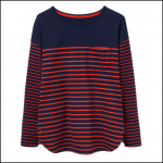 Joules Sophia Navy Red Stripe Jersey Top 1
