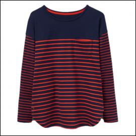 Joules Sophia Navy Red Stripe Jersey Top 1