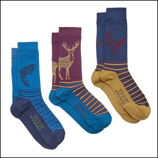 Joules Sox for a Fox Woodland Edition 3pk Gift Set 1