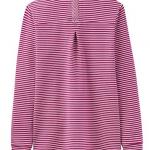 Joules Tenby Ruby Stripe Sweat Deck Shirt 2Joules Tenby Ruby Stripe Sweat Deck Shirt 2