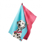 Joules Thea Pink Set of 2 Breton Daschund-Dalmatian Tea Towels 1