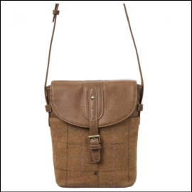 Joules Tourer Tan Check Tweed Cross-Body Bag 1