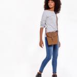 Joules Tourer Tan Check Tweed Cross-Body Bag 2