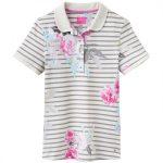 Joules Trinity Grey Beau Stripe Slim Fit Polo Shirt