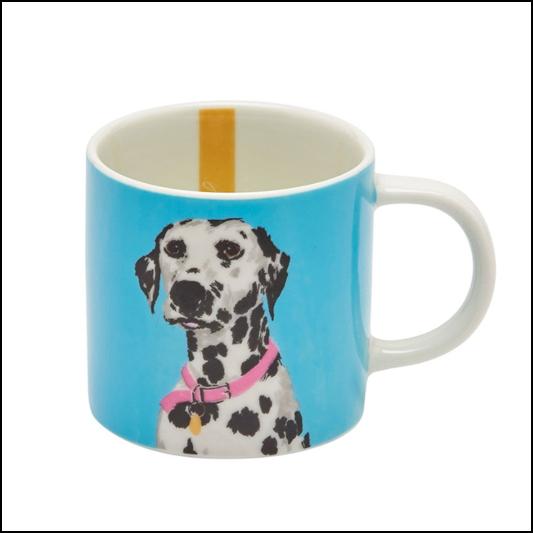 Joules Turquoise Dalmation Porcelain Cuppa Mug 1