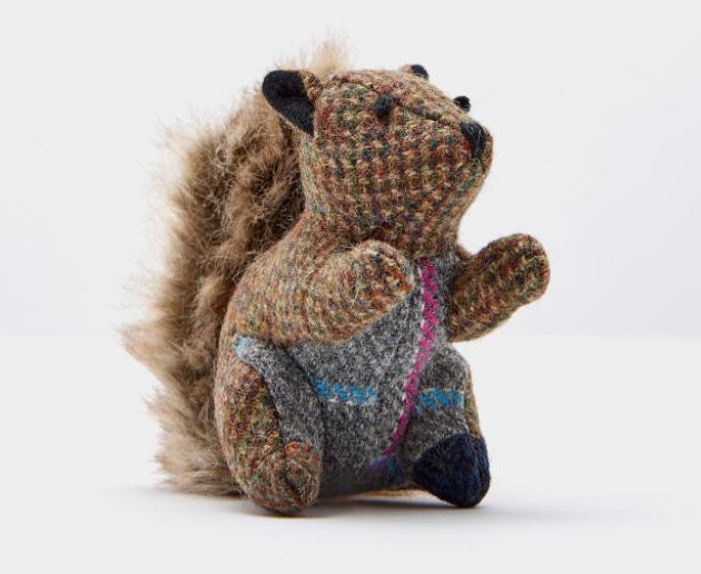 Joules Tweedle Squirrel Keyring 1