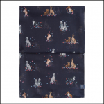 Joules Wensley Dog in Leaves Print Longline Scarf 2