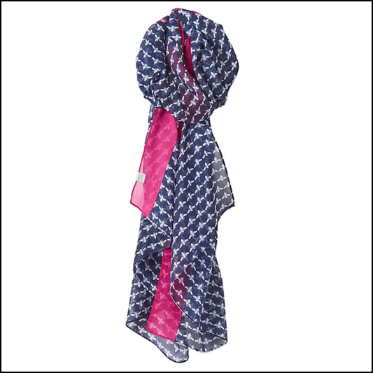 Joules Wensley French Navy Bee Scarf 1