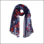Joules Wensley French Navy Fay Floral Scarf 1