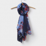 Joules Wensley French Navy Fay Floral Scarf 2