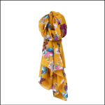 Joules Wensley Gold Posy Scarf 1
