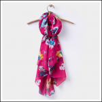 Joules Wensley Ruby Pink Posy Scarf 1