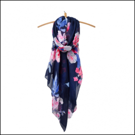 Joules Wensley Scarf French Navy Beau Bloom 1