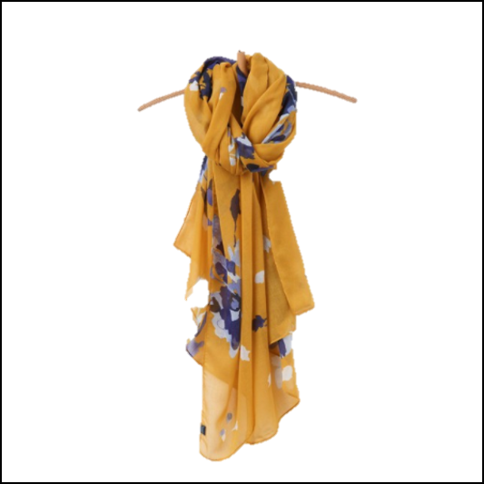 Joules Wensley Scarf Gold Floral 1