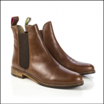 Joules Westbourne Dark Brown Leather Chelsea Boots