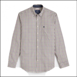 Joules Wilby Antique Cream Check Shirt 1