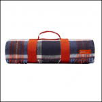 Joules Woven French Navy Check Picnic Blanket