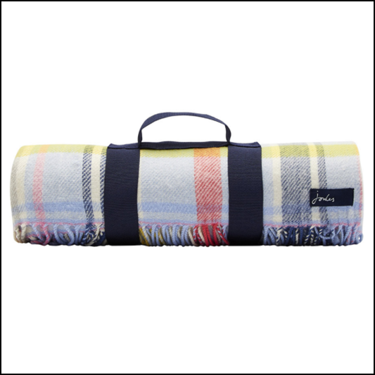 Joules Woven Multi Check Picnic Blanket 1